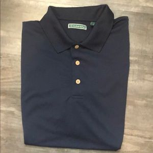 Cubavera Blue Stripe Polo